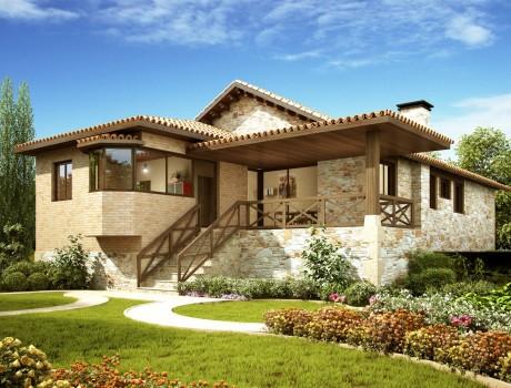 Casa inspirada en la sue o - Casa tipica gallega ...